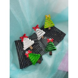 ChristmasTree1 Hairclip