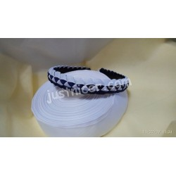 Headband 1 Navy Blue & White