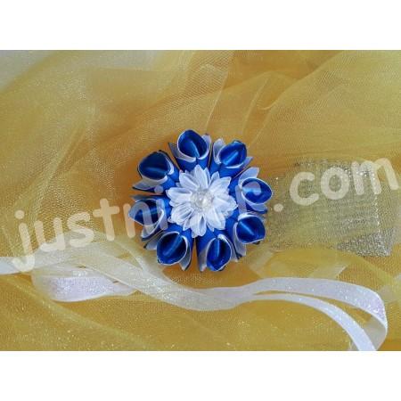 BlueFlower1 hair clip/bros