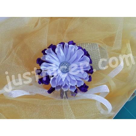 Tissue Purple flower1 hair clip/bros